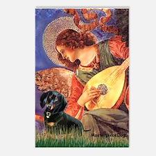 Mandolin Angel / Dachshund (BT) Postcards (Package