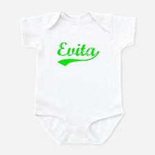 Vintage Evita (Green) Infant Bodysuit