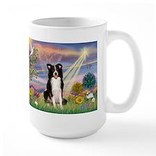 Cloud Angel Border Collie Mug