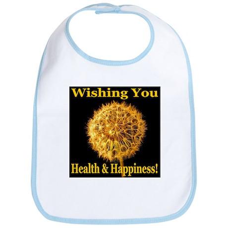 Wishing You Health & Happines Bib
