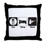 Eat. Sleep. Hunt. Throw Pillow