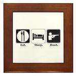 Eat. Sleep. Hunt. Framed Tile
