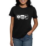 Eat. Sleep. Hunt. Women's Dark T-Shirt