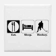 Eat. Sleep. Hockey. Tile Coaster