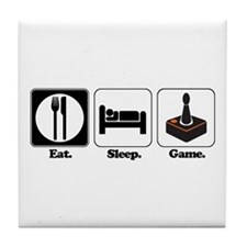 Eat. Sleep. Game. (Gamer/Video Games) Tile Coaster