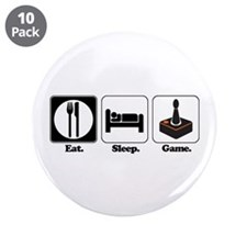 "Eat. Sleep. Game. (Gamer/Video Games) 3.5"" Button"