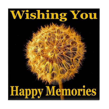 Wishing You Happy Memories Tile Coaster