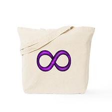 Purple Infinity Symbol Tote Bag