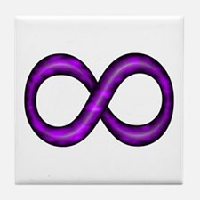 Purple Infinity Symbol Tile Coaster