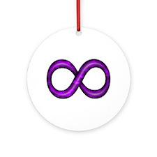Purple Infinity Symbol Ornament (Round)