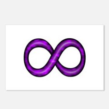 Purple Infinity Symbol Postcards (Package of 8)