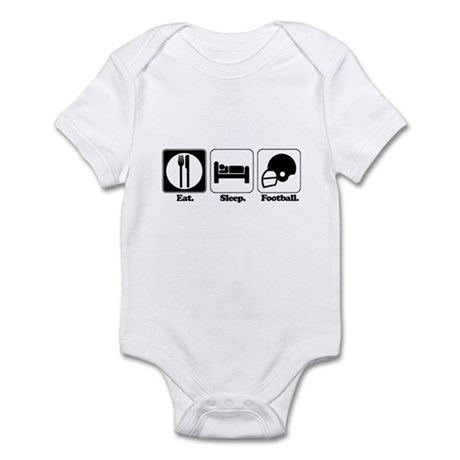 Eat. Sleep. Football. Infant Bodysuit