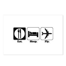 Eat. Sleep. Fly. (Pilot/Plane) Postcards (Package