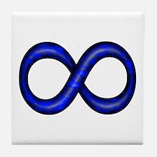 Royal Blue Infinity Symbol Tile Coaster