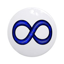 Royal Blue Infinity Symbol Ornament (Round)