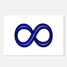 Royal Blue Infinity Symbol Postcards (Package of 8