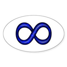 Royal Blue Infinity Symbol Oval Decal
