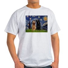 Starry Night & Briard Pair T-Shirt