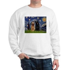 Starry Night & Briard Pair Sweatshirt
