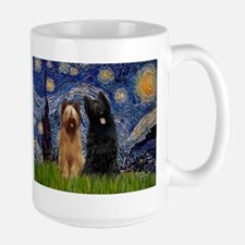 Starry Night & Briard Pair Mug