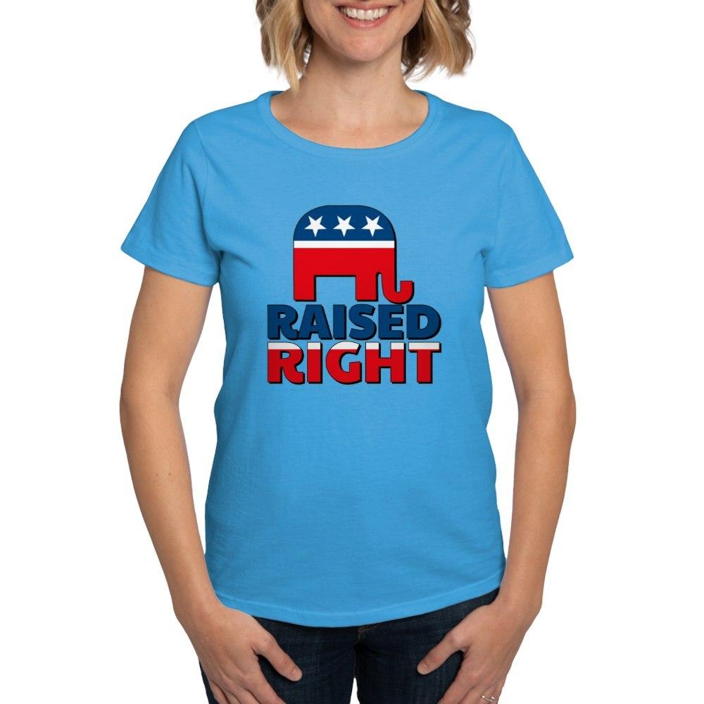 CafePress Raised Right Women/'s Classic T Shirt Womens T-Shirt 239531339