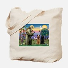 St Francis & Briard Pair Tote Bag