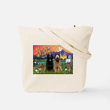 Cloud Angel & Briard Pair Tote Bag
