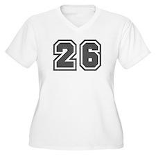 Number 26 Women's Plus Size V-Neck T-Shirt
