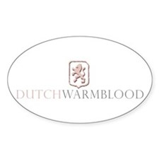 Dutch Warmblood Oval Decal