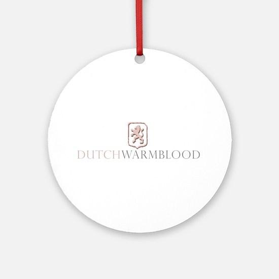 Dutch Warmblood Ornament (Round)