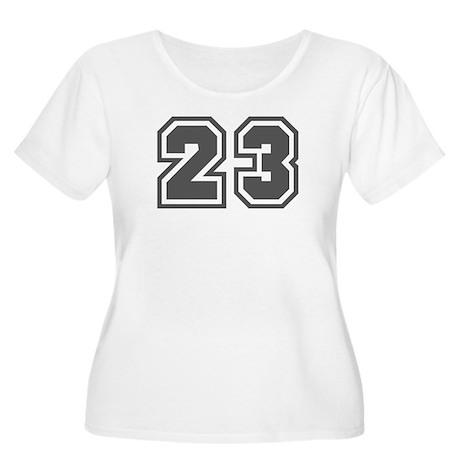 Number 23 Women's Plus Size Scoop Neck T-Shirt