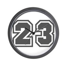 Number 23 Wall Clock