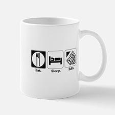 Eat. Sleep. Edit. (Newspaper Editor) Mug