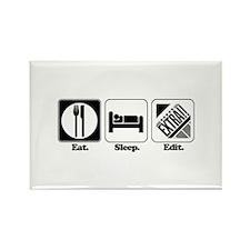 Eat. Sleep. Edit. (Newspaper Editor) Rectangle Mag