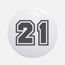 Number 21 Ornament (Round)