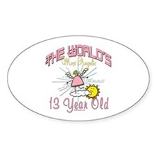 Angelic At 13 Oval Stickers