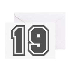 Number 19 Greeting Card