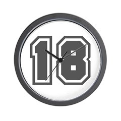 Number 18 Wall Clock