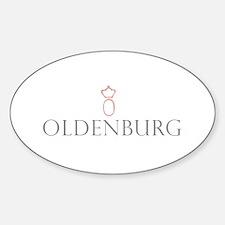 Oldenburg Horse Oval Decal