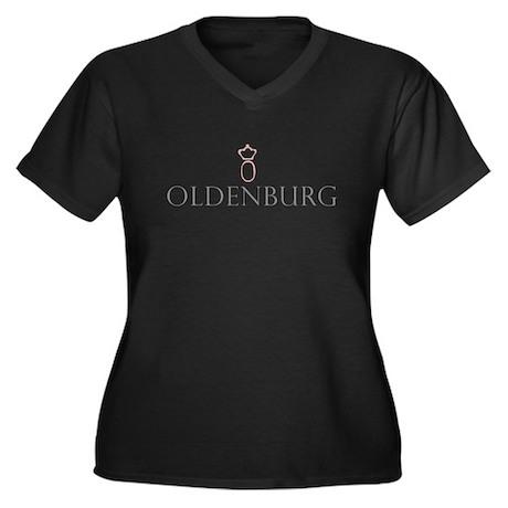 Oldenburg Horse Women's Plus Size V-Neck Dark T-Sh