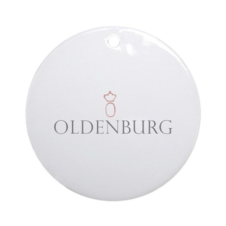 Oldenburg Horse Ornament (Round)