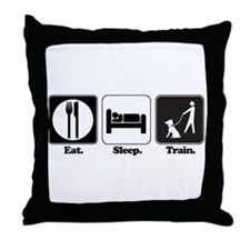 Eat. Sleep. Train. (Dog Trainer) Throw Pillow
