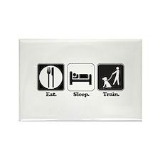Eat. Sleep. Train. (Dog Trainer) Rectangle Magnet