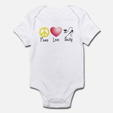 Peace, Love, Sewing Infant Bodysuit