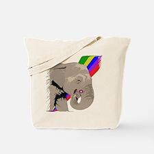 Elephant Rainbow Tote Bag
