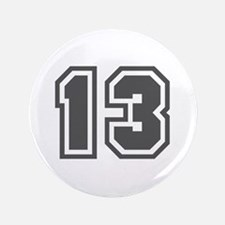 """Number 13 3.5"""" Button"""