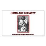 Homeland Security Geronimo Rectangle Sticker 10 p