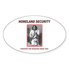 Homeland Security Geronimo Oval Sticker (10 pk)