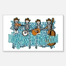 Bluegrass Skeletons Rectangle Decal