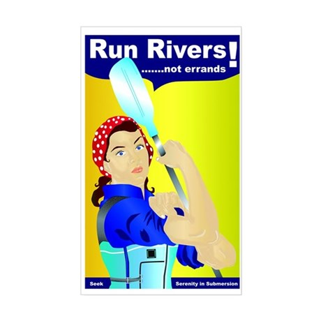 Rosie the River Runner Sticker (Rectangle)